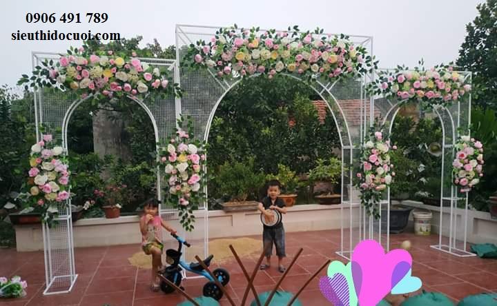 Cổng hoa cưới 3d