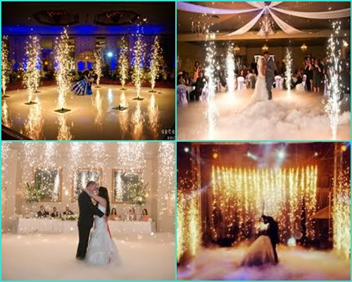 Pháo điện, pháo sáng đám cưới