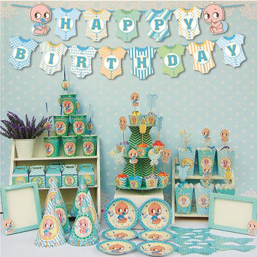 Bộ phụ kiện trang trí sinh nhật chủ đề Baby boy