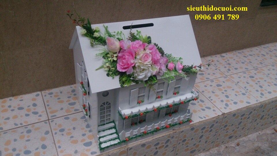 Thùng tiền đám cưới hình ngôi nhà hạnh phúc